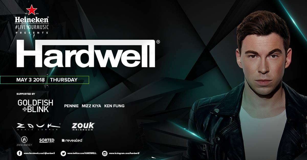 Zouk KL pres  Hardwell - 3 May