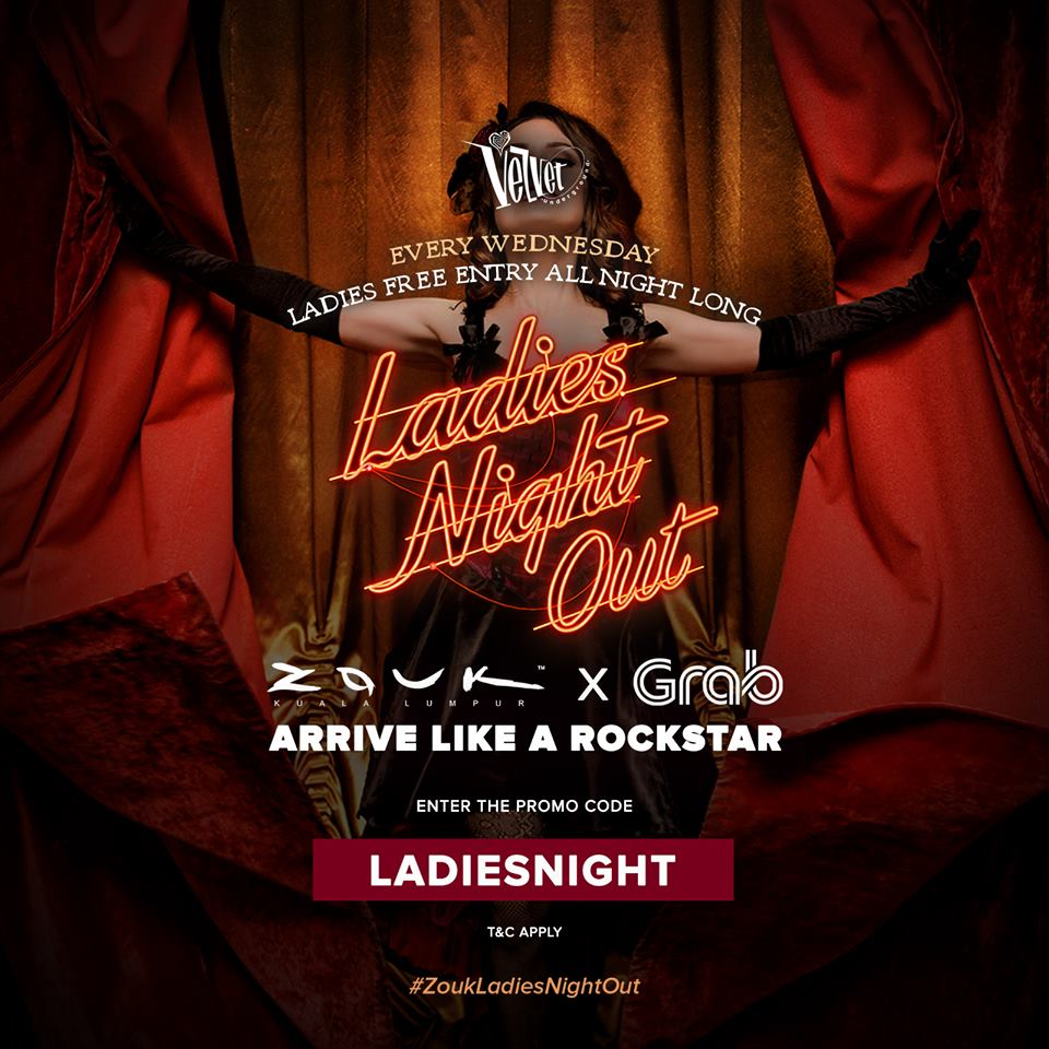 Ladies night out : Velvet Underground : Zouk KL