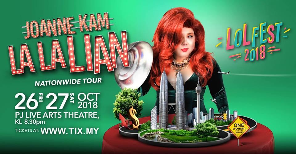 Joanne Kam : La La Lian - Kuala Lumpur - 26 & 27 Oct