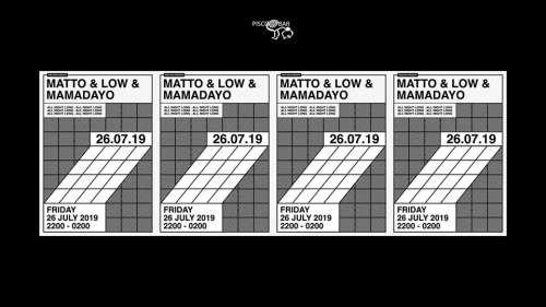 Pisco Bar pres. Matto, DJ Low + Mamadayo