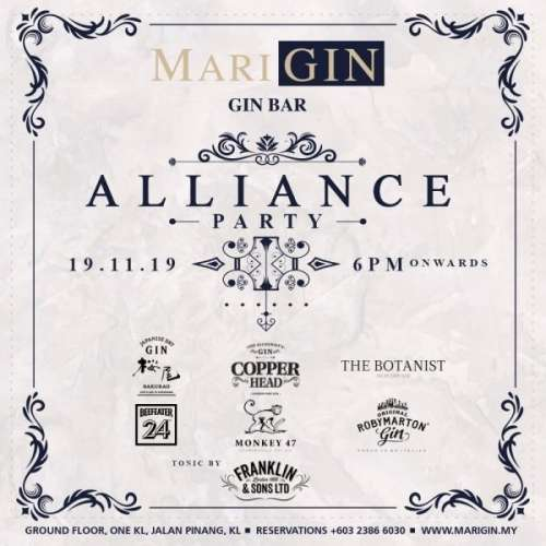 Marigin Gin Bar Alliance Party