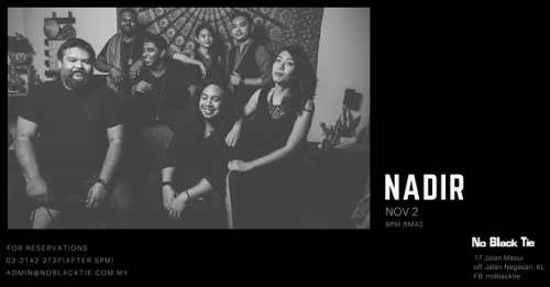 Nadir Live At No Black Tie (Synesthesia Album Showcase)