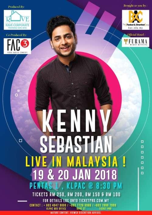 Kenny Sebastian live at The Kuala Lumpur Performing Arts Centre (klpac)