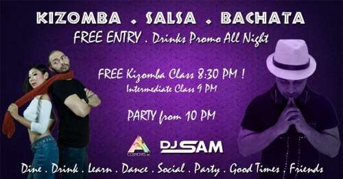 Tuesday : Kizomba & Latin Party