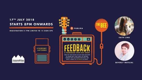 Feedback Open Mic ft Faith Ling & Beverly Matujal