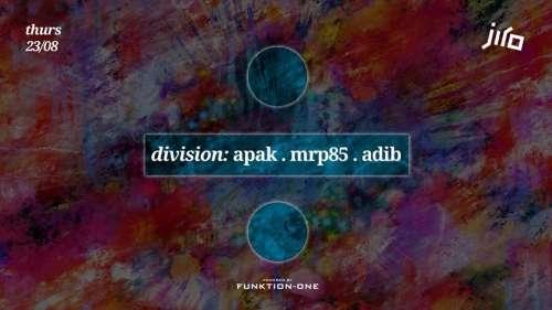 JIRO presents: Division ft Apak, MRP85 & Adib