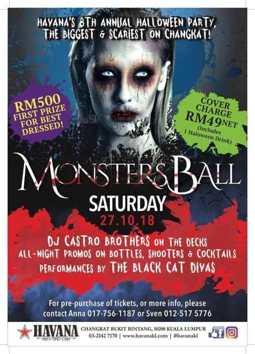 Havana's 8th Annual Halloween Party 2018- Monsters Ball