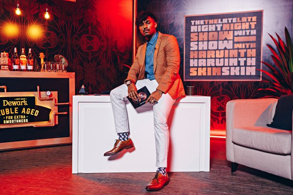 Comedian Harvinth Skin officially launches fresh & chaotic late night talk show