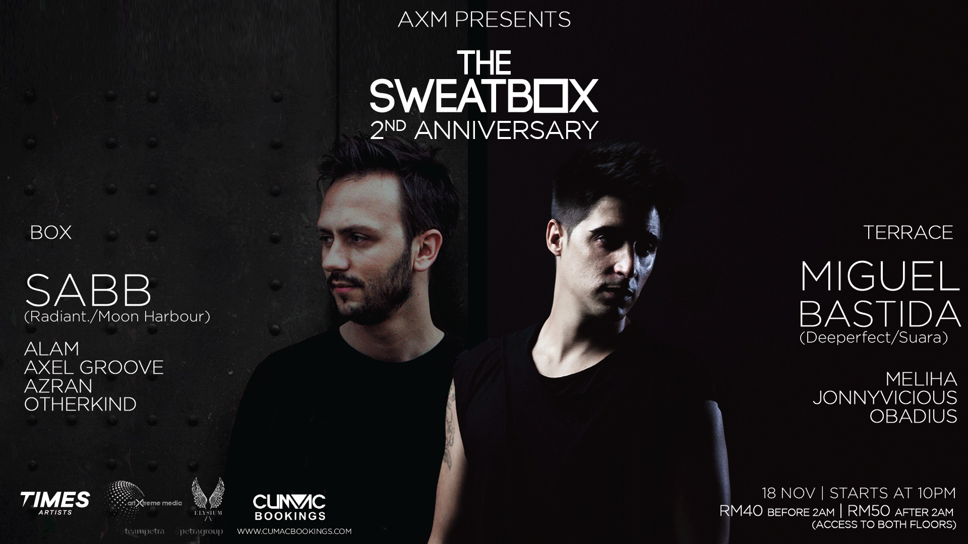 The Sweatbox 2nd Anniversary November 18