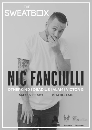 Nic Fanciulli 16 September at the Sweatbox Kuala Lumpur
