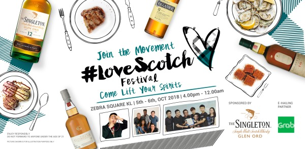 Fun Expected at the 2018 Inaugural LoveScotch Festival, Zebra Square KL
