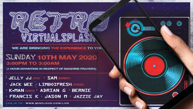 Retro Sunsplash Creates a Virtual 12 hour Charity Special This Sunday