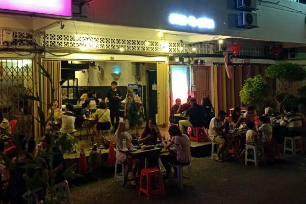 Outside at Down to Bones, OUG | Kuala Lumpur Best Restaurant Review 2018