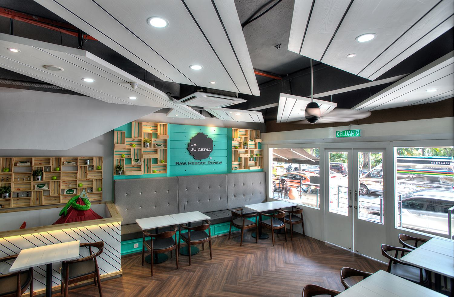 inside interior picture of Goodness Greens Cafe at TTDI Kuala Lumpuur