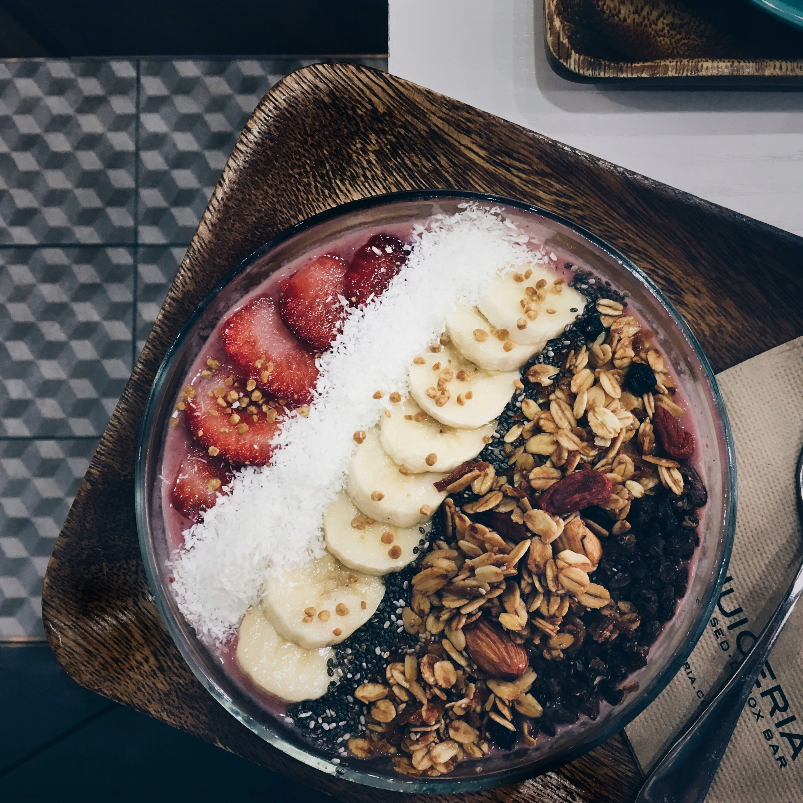 Smoothie bowl made by Goodness Greens Cafe at TTDI Kuala Lumpur