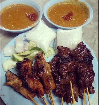 Sate at Restoran Sate Kuala Lumpur Malaysia
