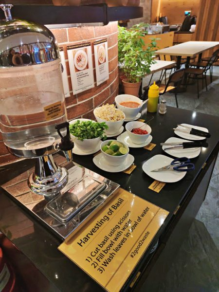 Taste the Beefiest Pho in Kuala Lumpur At Ăn Viet Vietnamese Restaurant - Condiment corner with herb garden