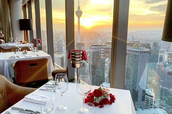 14 Valentine ideas for a romantic night in Kuala Lumpur 2020 - Marini's on 57 is located at Level 57