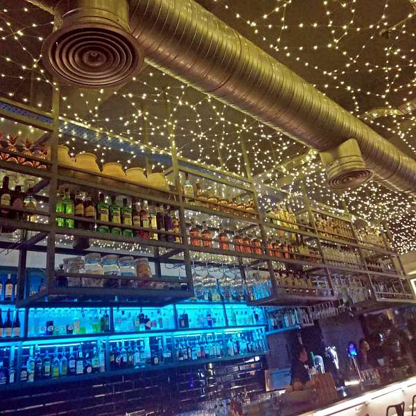 Knowhere Bangsar, Kuala Lumpur Bar and Restaurant Review Fairy lights at bar