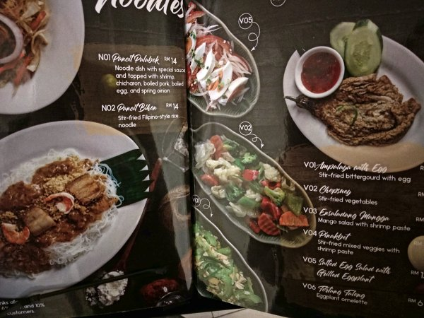 The Narra, Petaling Jaya, Filipino Resto Lounge Review - Menu