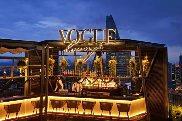 Glamorous Vogue Lounge Takes Fashion Dining to New Heights in KL - roof top view.