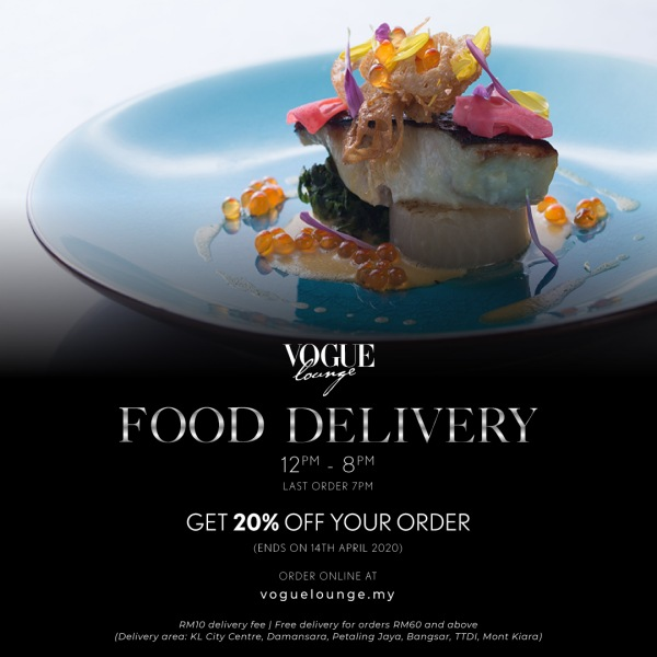 Vogue Lounge KL Offers Food Delivery During MCO